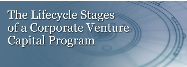 the lifecycle of a corporate venture capital program